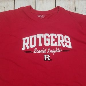 Old Varsity Brand Shirts - Rutgers Scarlet Knights Stitched Graphics Tshirt